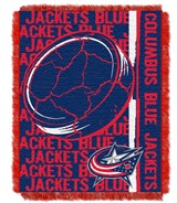 "Columbus Blue Jackets NHL ""Double Play"" Woven Jacquard Throw"