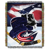 "Columbus Blue Jackets NHL ""Home Ice Advantage"" Woven Tapestry Throw"