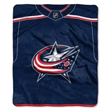 "Columbus Blue Jackets NHL ""Jersey"" Raschel Throw"