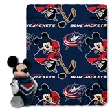 Columbus Blue Jackets NHL Mickey Hugger and Fleece Throw Set