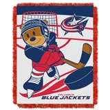"Columbus Blue Jackets NHL ""Score Baby""Baby Woven Jacquard Throw"