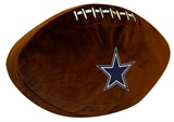 Dallas Cowboys Football Shaped 3D Pillow