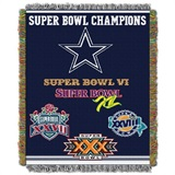 "Dallas Cowboys NFL ""Commemorative"" Woven Tapestry Throw"