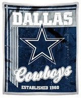 "Dallas Cowboys NFL ""Old School"" Mink Sherpa Throw"