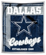 "Dallas Cowboys ""Old School"" Mink with Sherpa Throw"