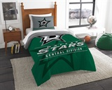 "Dallas Stars NHL ""Draft"" Twin Comforter Set"