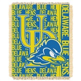 "Delaware Blue Hens NCAA ""Double Play"" Woven Jacquard Throw"