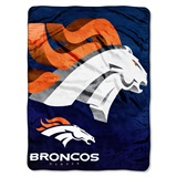 "Denver Broncos ""Bevel"" Micro Raschel Throw"