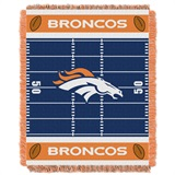 "Denver Broncos NFL ""Field"" Baby Woven Jacquard Throw"