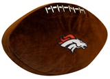 Denver Broncos Football Shaped 3D Pillow