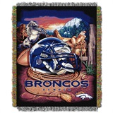 "Denver Broncos NFL ""Home Field Advantage"" Woven Tapestry Throw"