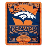 "Denver Broncos NFL ""Marquee"" Fleece Throw"