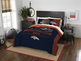 "Denver Broncos NFL ""Draft"" Full/Queen Comforter Set"