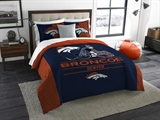"Denver Broncos NFL ""Draft"" King Comforter Set"