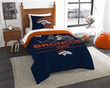 "Denver Broncos NFL ""Draft"" Twin Comforter Set"