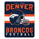 "Denver Broncos NFL ""Singular"" Fleece Throw"