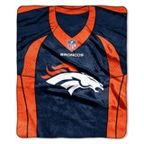 "Denver Broncos NFL ""Stagger"" Micro Raschel Throw"