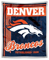 "Denver Broncos NFL ""Old School"" Mink Sherpa Throw"
