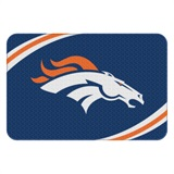 Denver Broncos Round Edge Bath Rug
