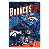 "Denver Broncos NFL ""Heritage"" Silk Touch Throw"
