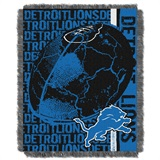 "Detroit Lions NFL ""Double Play"" Woven Jacquard Throw"