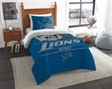 "Detroit Lions NFL ""Draft"" Twin Comforter Set"