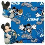 Detroit Lions NFL Mickey Mouse Shaped Pillow and Throw Set