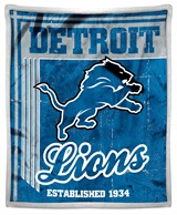 "Detroit Lions ""Old School"" Mink with Sherpa Throw"