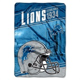 "Detroit Lions ""Stagger"" Micro Raschel Throw"