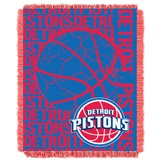 "Detroit Pistons NBA ""Double Play"" Woven Jacquard Throw"