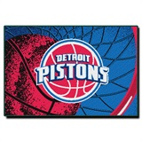 Detroit Pistons NBA Large Tufted Rug
