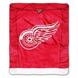 "Detroit Red Wings NHL ""Jersey"" Raschel Throw"