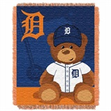 "Detroit Tigers MLB ""Field Bear"" Baby Woven Jacquard Throw"