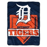 "Detroit Tigers MLB ""Home Plate"" Raschel Throw"