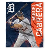 "Detroit Tigers MLB ""Miguel Cabrera"" Player Silk Touch Throw"