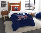"Edmonton Oilers NHL ""Draft"" Twin Comforter Set"