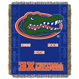 Florida Gators NCAA Commemorative Woven Tapestry Throw