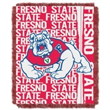 "Fresno State Bulldogs NCAA ""Double Play"" Woven Jacquard Throw"
