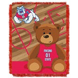 "Fresno State Bulldogs NCAA ""Fullback"" Baby Woven Jacquard Throw"