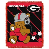 "Georgia  Bulldogs NCAA ""Fullback"" Baby Woven Jacquard Throw"