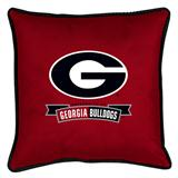 Georgia U Bulldogs Sidelines Decorative Pillow
