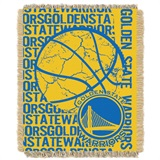 "Golden State Warriors NBA ""Double Play"" Woven Jacquard Throw"
