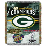 "Green Bay Packers ""Commemorative"" Woven Tapestry Throw"