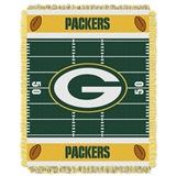 "Green Bay Packers ""Field"" Baby Woven Jacquard Throw"