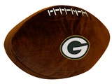 Green Bay Packers Football Shaped 3D Pillow