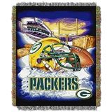 "Green Bay Packers ""Home Field Advantage"" Woven Tapestry Throw"