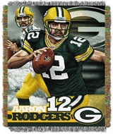 "Green Bay Packers NFL ""Aaron Rodgers"" Players Woven Tapestry Throw"