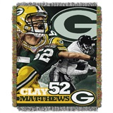 "Green Bay Packers NFL ""Clay Matthews"" Woven Tapestry Throw"