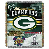 "Green Bay Packers NFL ""Commemorative"" Woven Tapestry Throw"