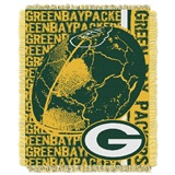 "Green Bay Packers NFL ""Double Play"" Woven Jacquard Throw"